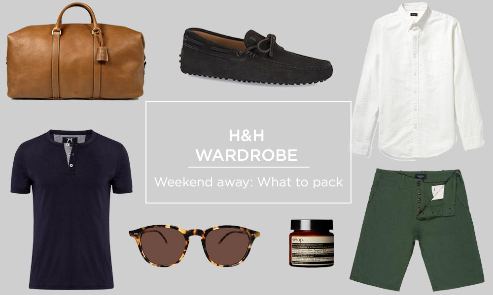 Hamilton and Hare wardrobe - what to pack for a weekend away. Apc, Nike, Oliver Spencer & Mulberry.