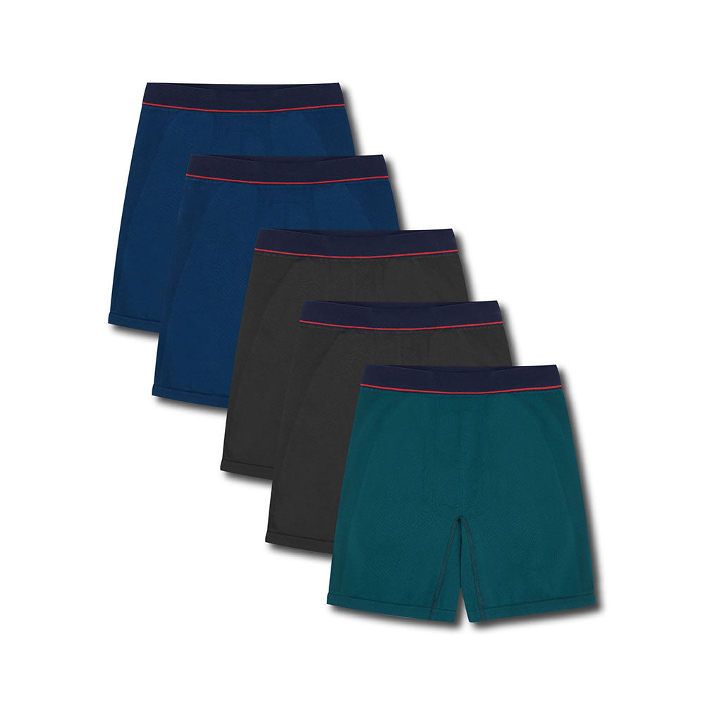 5 Pack Sport Trunk Mix - Hamilton and Hare Ltd