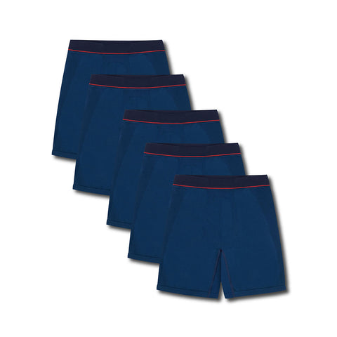 5 Pack Lisbon Blue Boxer Brief