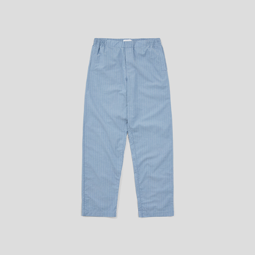 Drawstring Trousers - Blue White Pinstripe