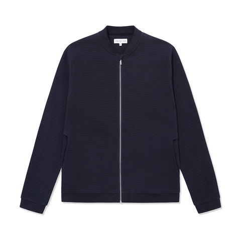 Open Collar Shirt Long Sleeve - Navy Decking Stripe