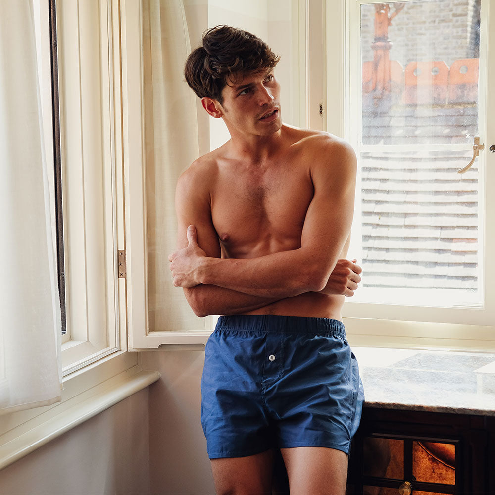 Boxer Short Navy - Hamilton and Hare Ltd