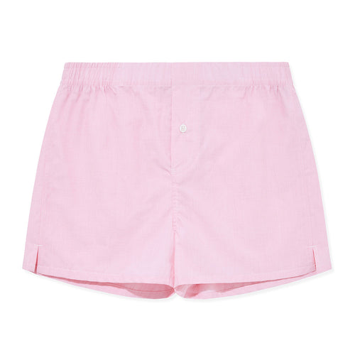 Boxer Short - Pink Weave - Hamilton and Hare Ltd
