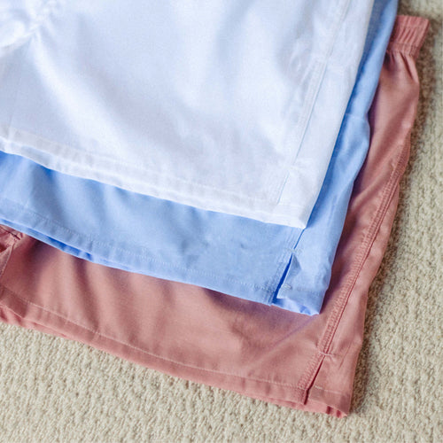 3 Pack Boxer Short - Rose, Sky Blue, White - Hamilton and Hare Ltd