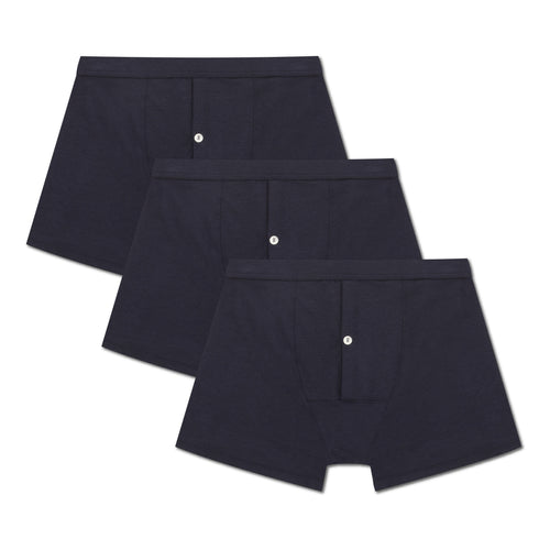 3 Pack Boxer Brief - Navy - Hamilton and Hare Ltd
