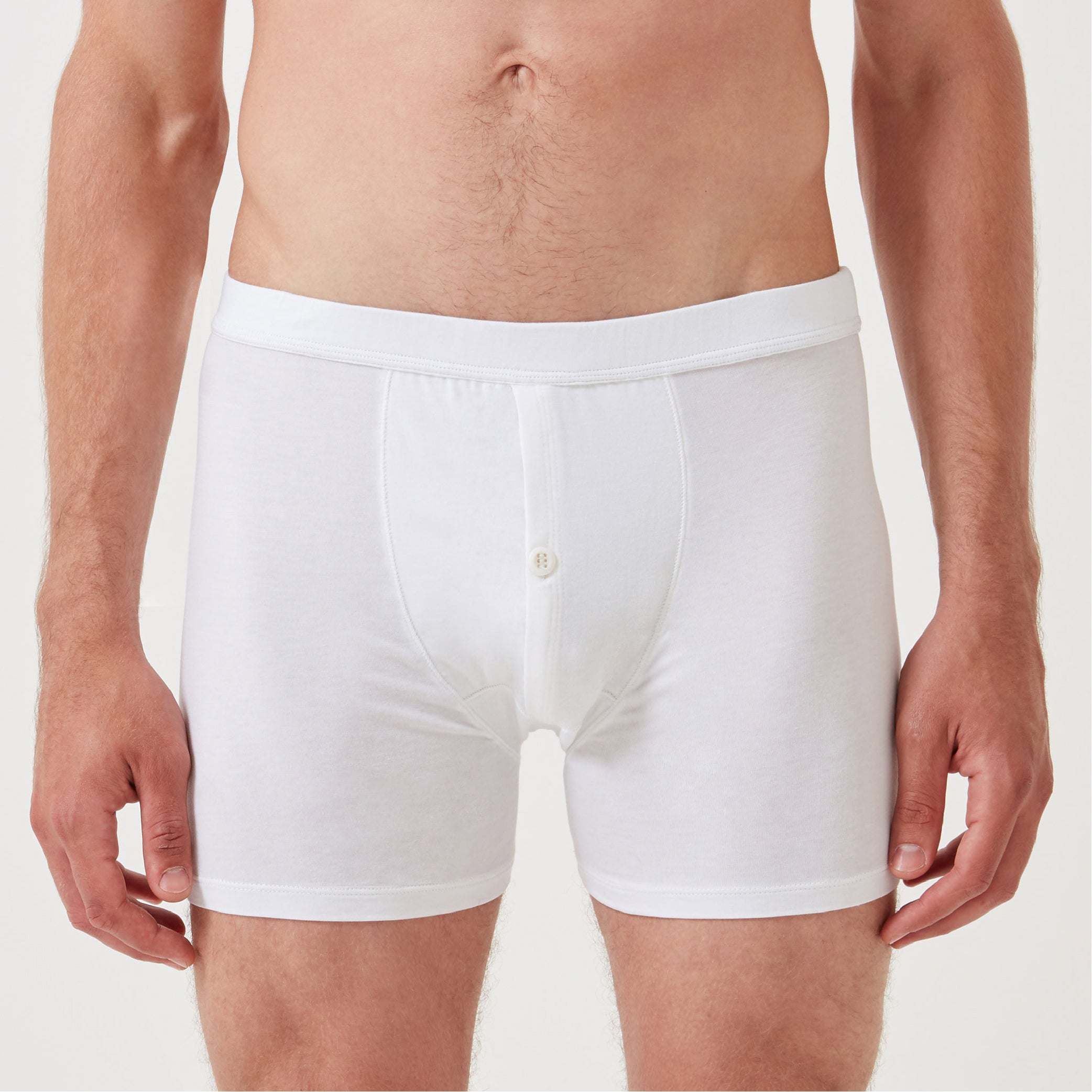 3 Pack Boxer Brief - White - Hamilton and Hare Ltd