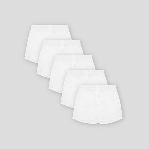 5 Pack Boxer Short - Classic White