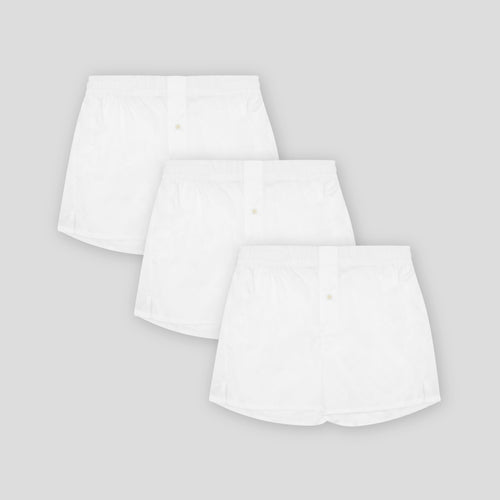 3 Pack Boxer Short - Classic White