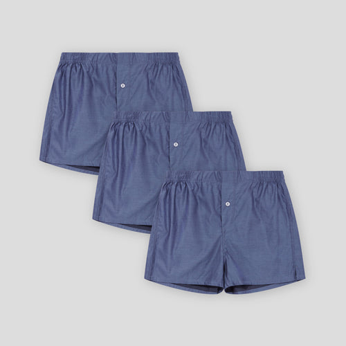 3 Pack Boxer Short - Blue Chip