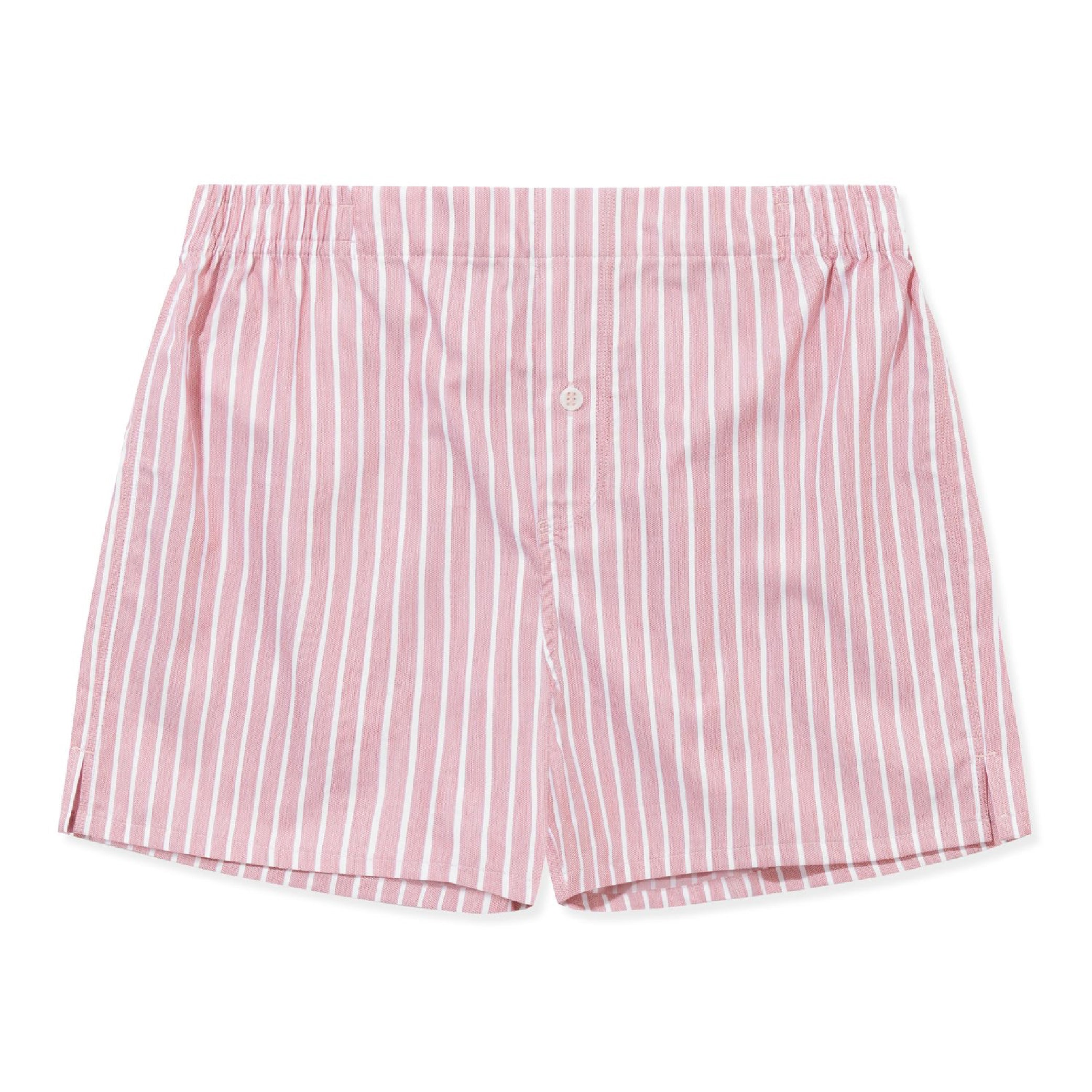 3 Pack Boxer Short - Rose, Classic White, Pink Stripe