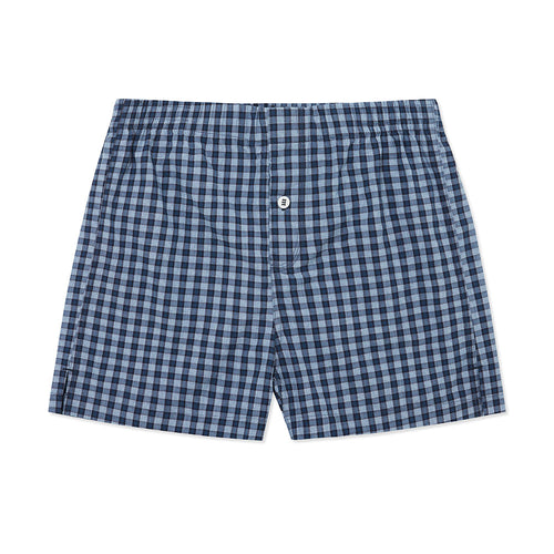 Cotton Cashmere Boxer Short Navy Cross - Hamilton and Hare Ltd