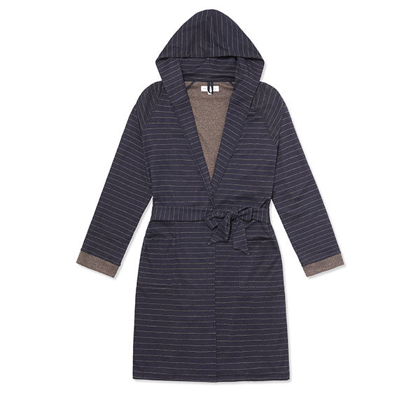 The Lounge Robe Navy Stripe