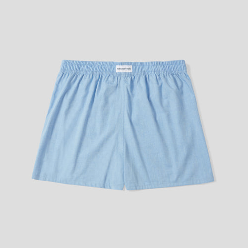 Cotton Cashmere Boxer Short - Light Blue