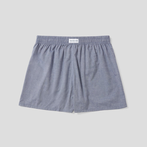 Cotton Cashmere Boxer Short - Dark Blue