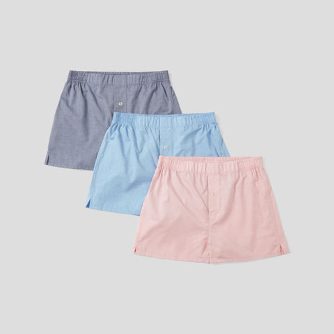 Cotton Cashmere Boxer Short - Pink