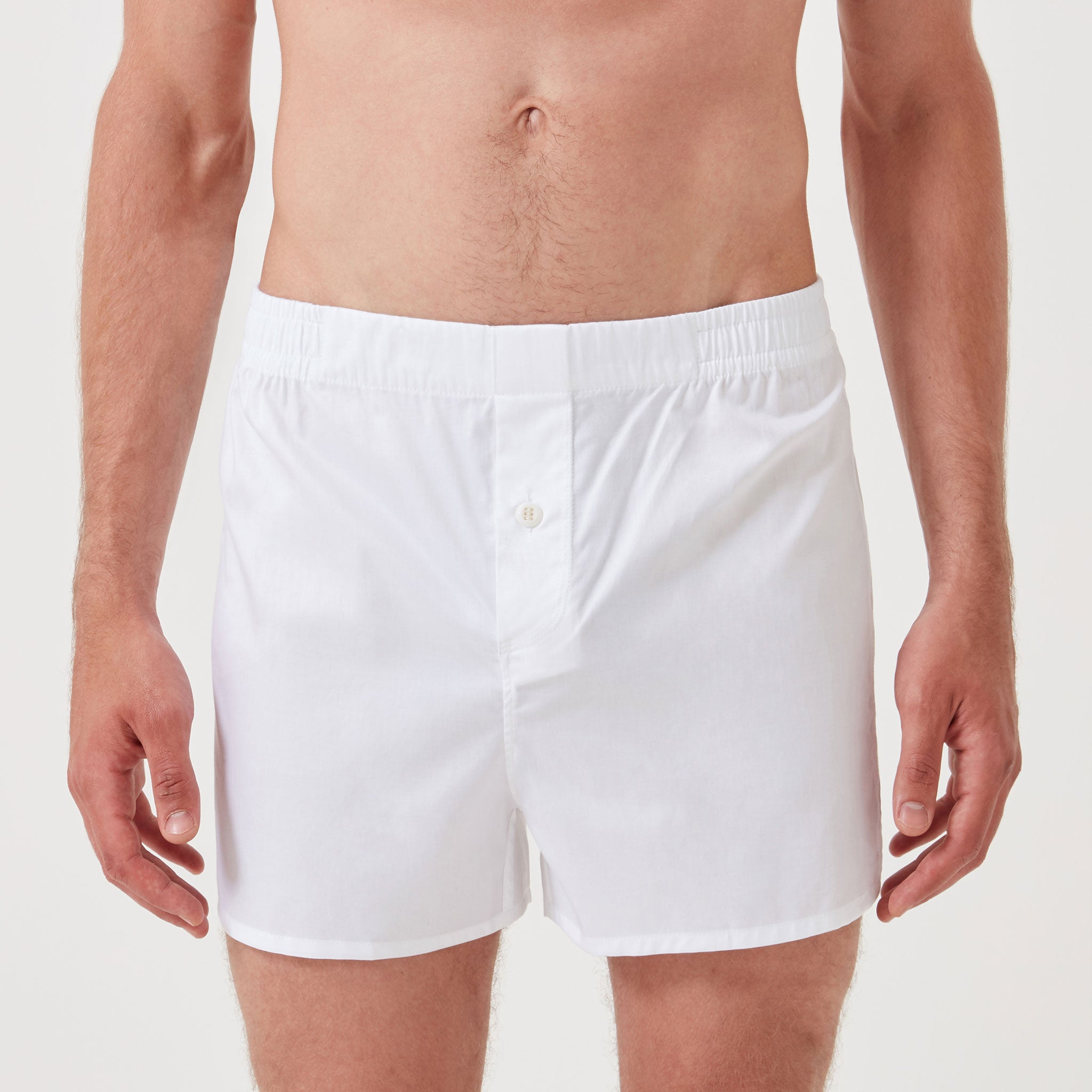 Monogrammed Boxer Short Classic White - Hamilton and Hare Ltd