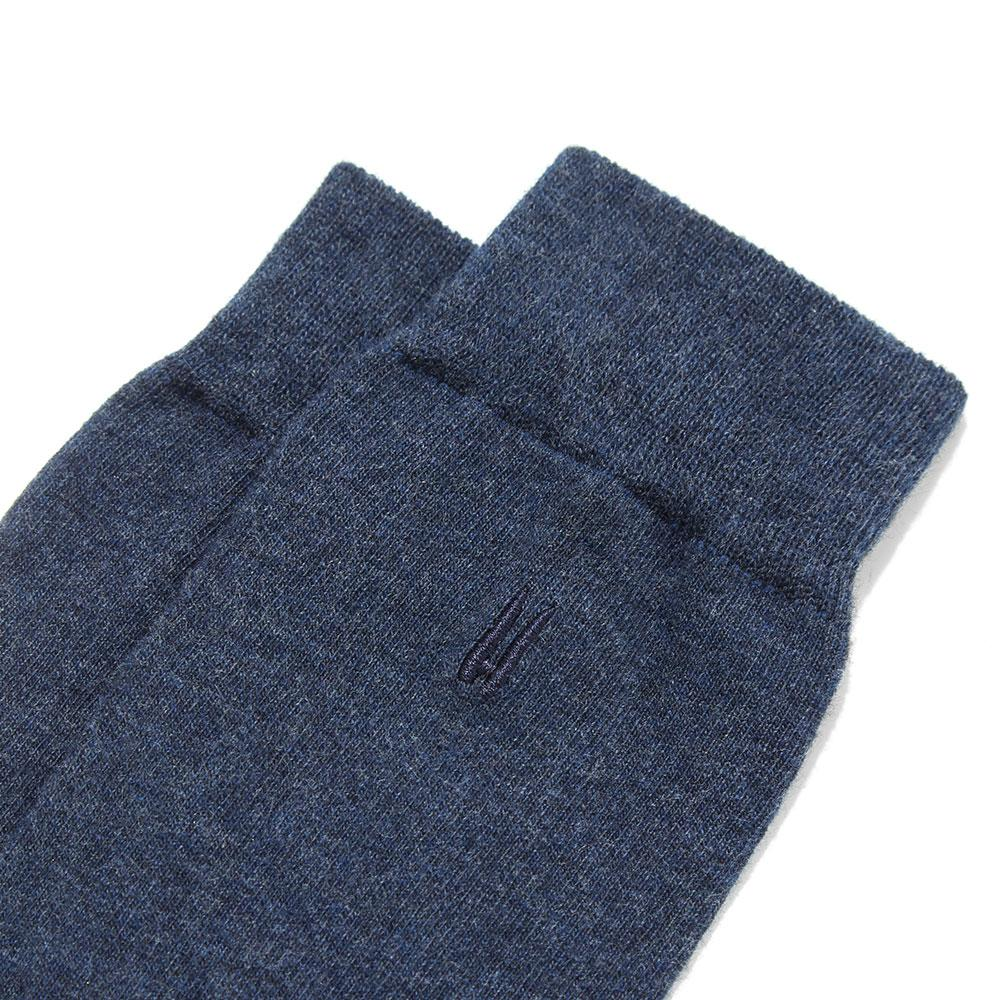 3 Pack Everyday Sock - Navy Melange - Hamilton and Hare Ltd