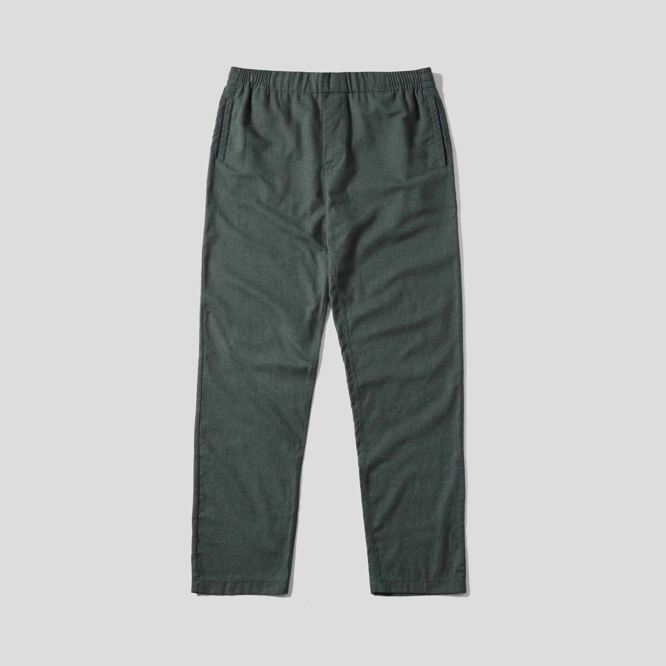 Pyjama Trouser - Green Cotton Flannel