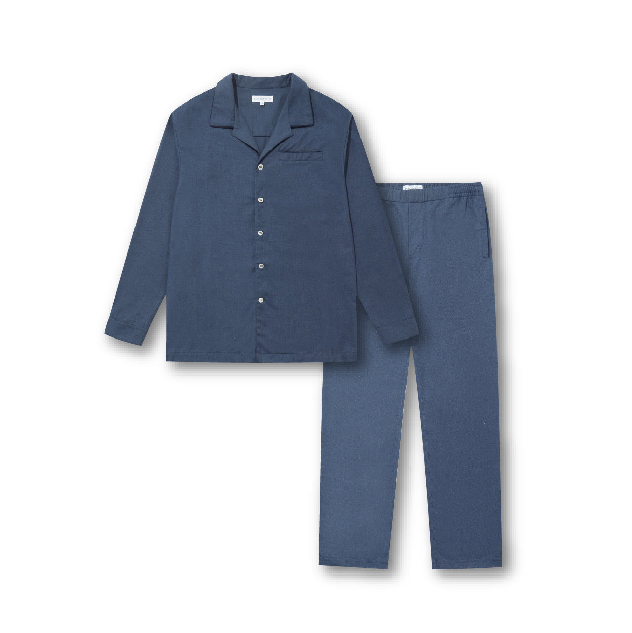 Pyjama Set - Navy Flannel - Hamilton and Hare Ltd