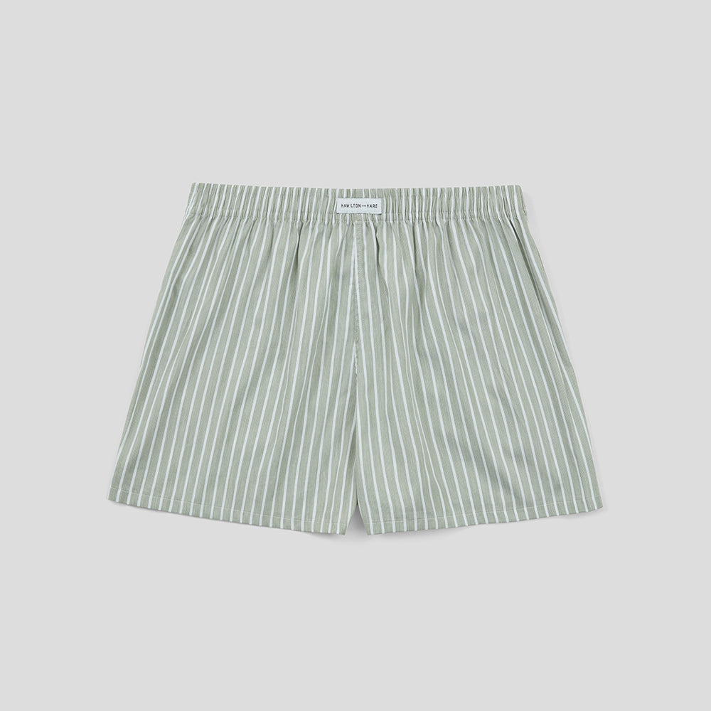 Boxer Short - Green Stripe