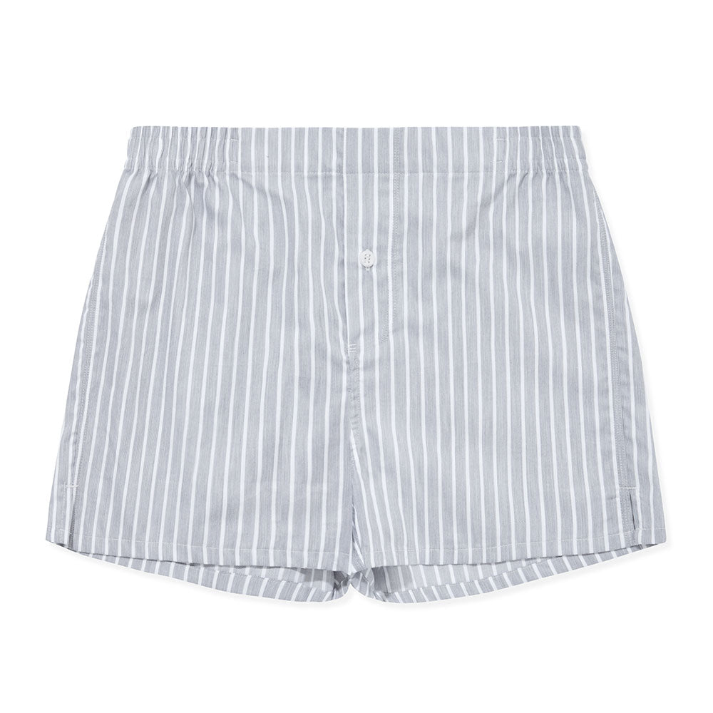 Boxer Short Grey Pinstripe