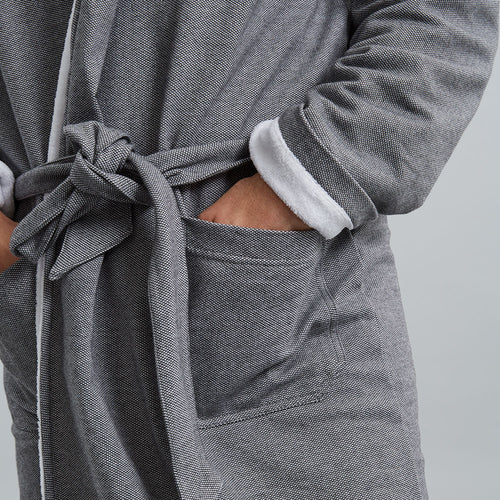 Towelling Robe - Grey