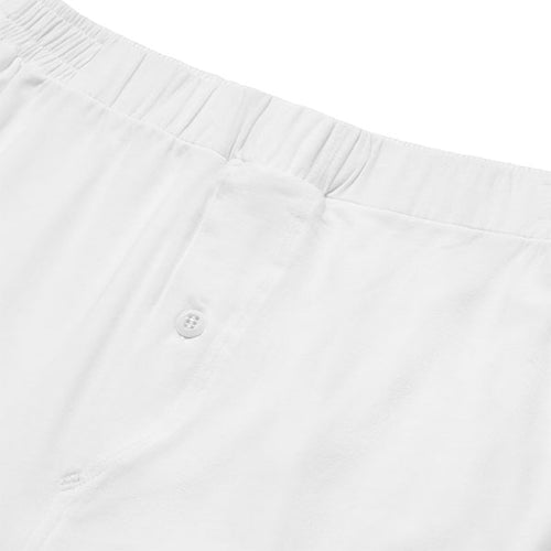 Jersey Boxer Short - White - Hamilton and Hare Ltd