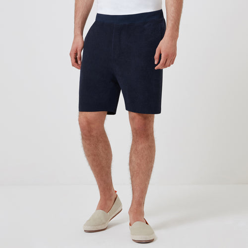 Terry Towelling Drawstring Short - Navy