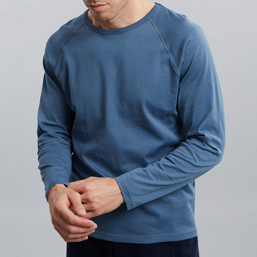 Slate Blue Raglan Long Sleeve Tee