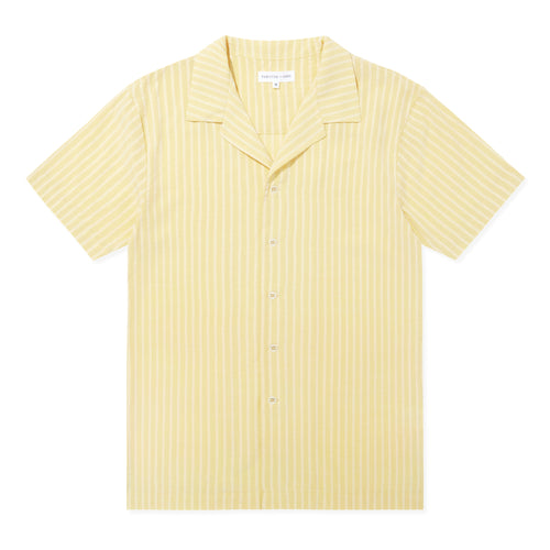 Open Collar Shirt- Limoncello Stripe - Hamilton and Hare Ltd