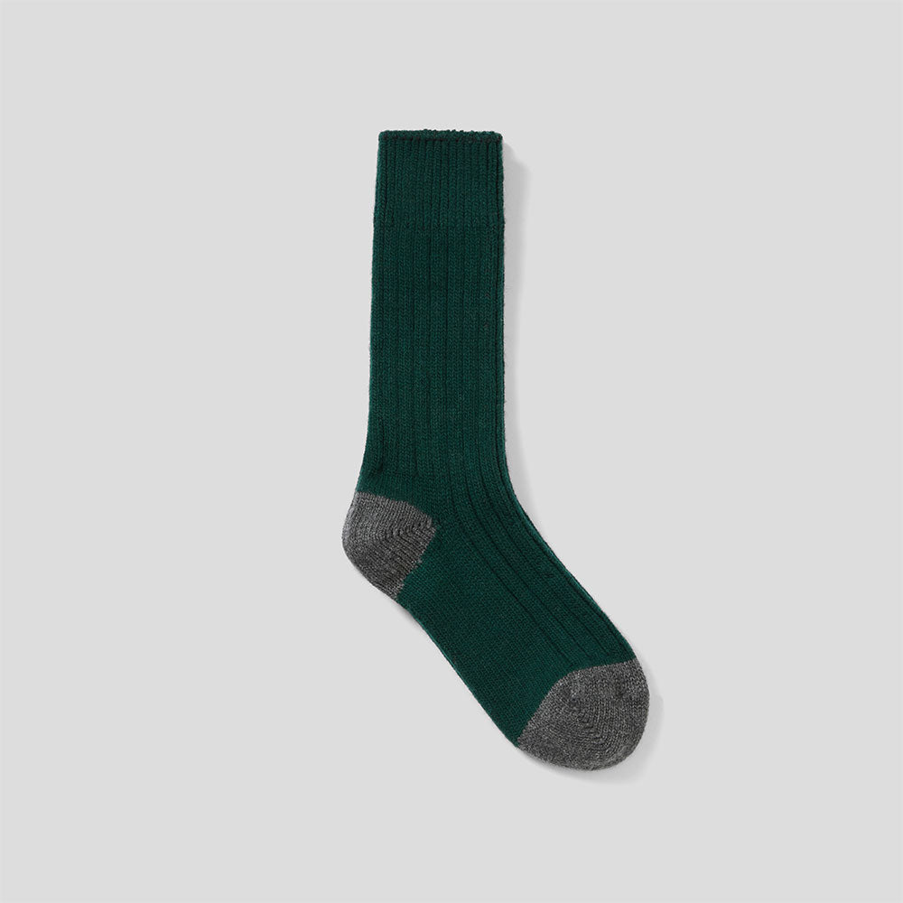 3 Pack Luxe Lounge Sock  - Oat, Dark Blue, Dark Green