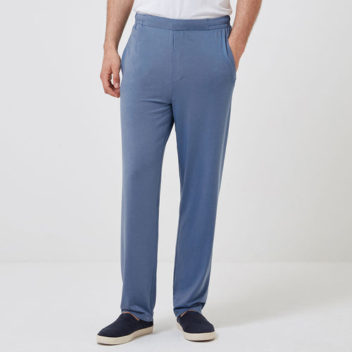 Jersey Sleep Trouser - Mineral Blue - Hamilton and Hare Ltd
