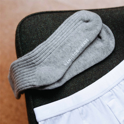 3 Pack Lounge Sock - Grey Melange
