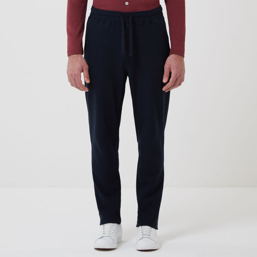 Drawstring Travel Trouser Navy - Hamilton and Hare Ltd