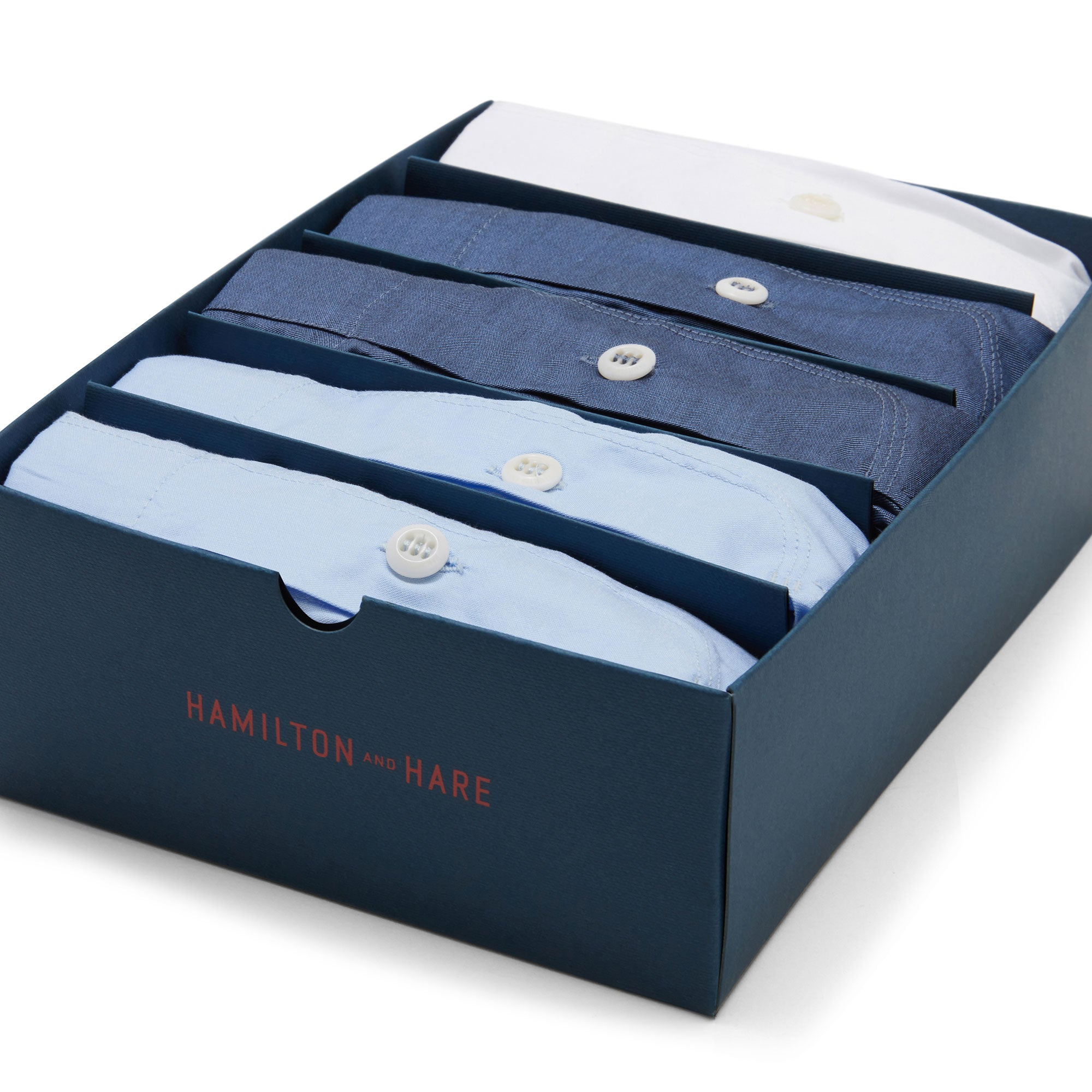 Plain Boxer Short Box Set - Sky Blue, White, Navy - Hamilton and Hare Ltd