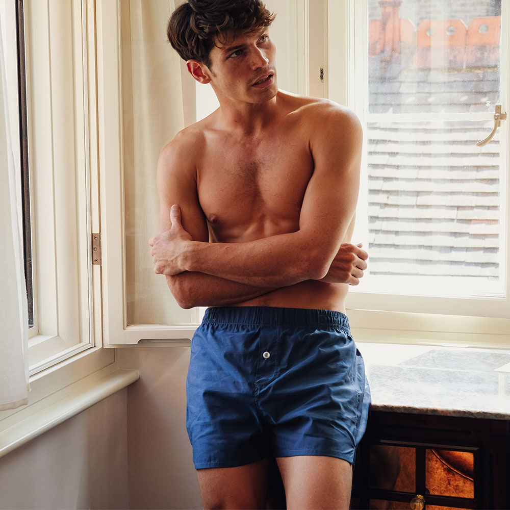 3 Pack Boxer Short - Navy - Hamilton and Hare Ltd