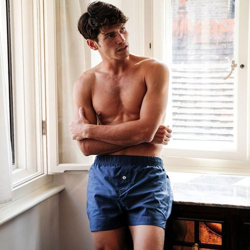 5 Pack Boxer Short - Navy - Hamilton and Hare Ltd