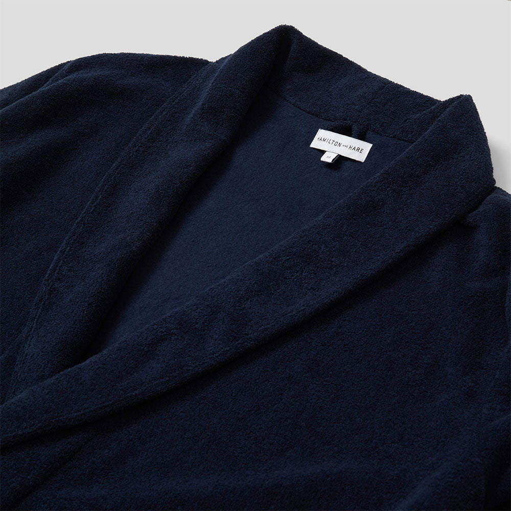 Relax Robe - Navy Towelling