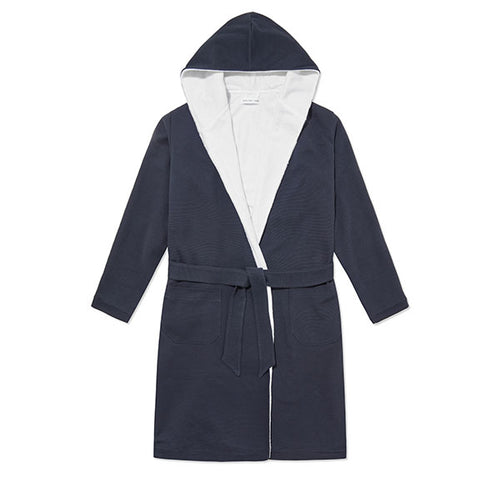 Towelling Robe - Navy