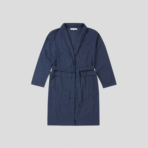 Relax Robe - Navy Decking Stripe