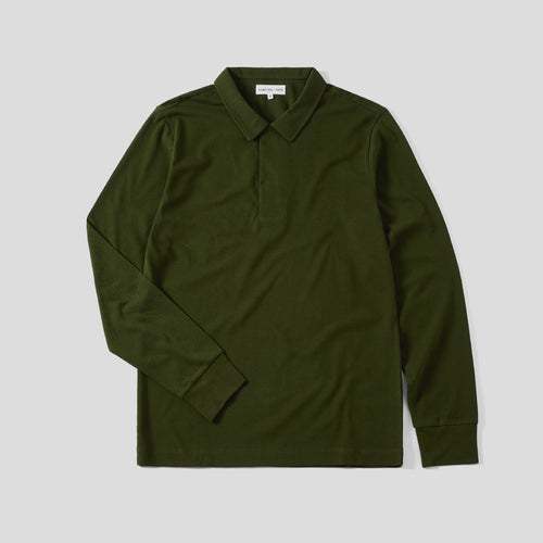 Polo Shirt Long Sleeve - Olive