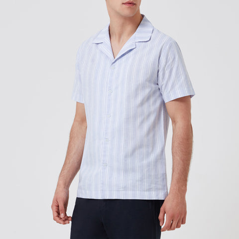Boxer Short - White Blue Stripe