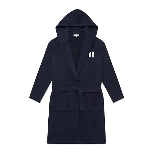 Personalised Jersey Hooded Robe - Navy