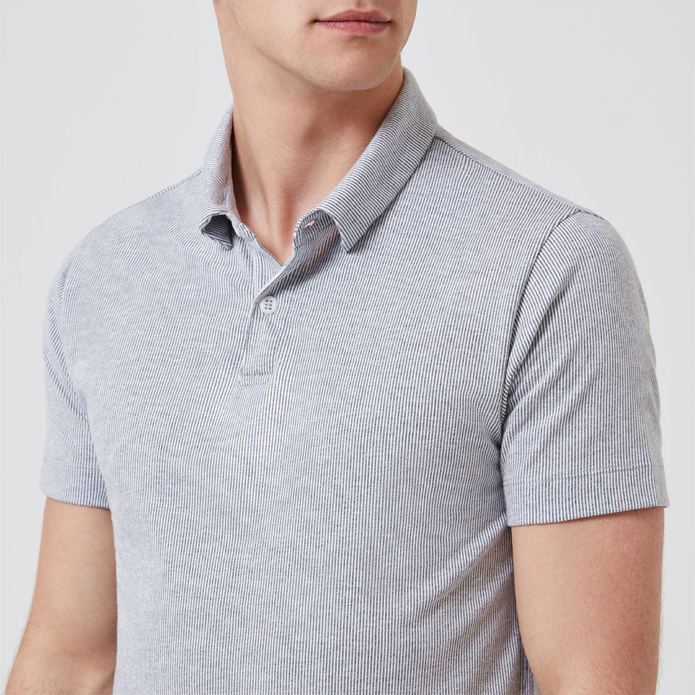 Polo Shirt - Grey Stripe