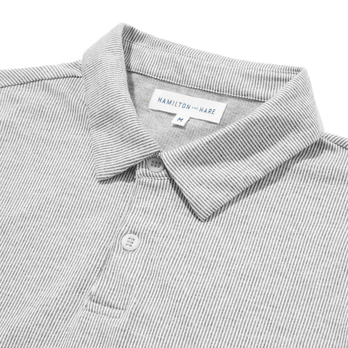 Polo Shirt - Grey Stripe - Hamilton and Hare Ltd