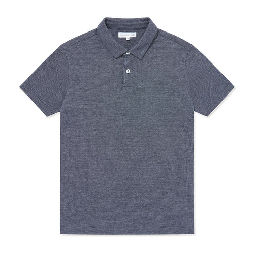 Polo Shirt - Navy White Dot