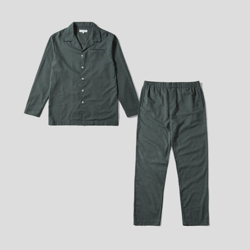 Pyjama Set - Green Flannel