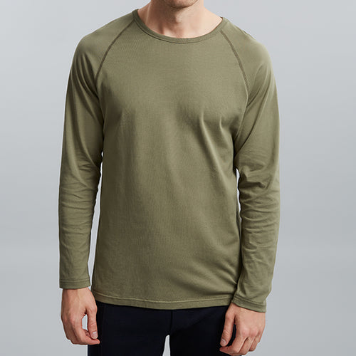Dusty Olive Raglan Long Sleeve Tee