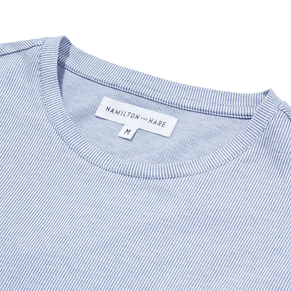 Relax T-Shirt - Blue Stripe - Hamilton and Hare Ltd