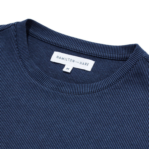 Relax T-Shirt - Navy Stripe - Hamilton and Hare Ltd
